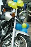 Motorcycle on sale. Royalty Free Stock Photography