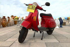 Motorcycle for sale. In Italy Stock Image