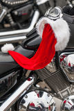 Motorcycle of Santa Claus. Royalty Free Stock Images