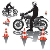 Motorcycle school Royalty Free Stock Photo