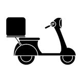 Motorcycle scooter delivery food pictogram. Vector illustration eps 10 Stock Image