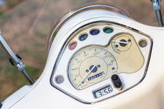 Motorcycle, scooter speedometer bord close up Royalty Free Stock Images