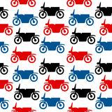 Motorcycle seamless pattern Stock Image