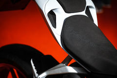 Motorcycle seat Stock Images