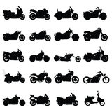 Motorcycle set. Set of motorcycle silhouettes vector Stock Photo