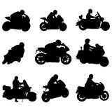 Motorcycle set Stock Images