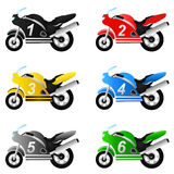 Motorcycle set vector Stock Images