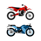 Motorcycle set Royalty Free Stock Photo