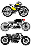Motorcycle Set Vintage Graphic Design Stock Photos