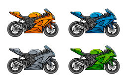 Motorcycle set Royalty Free Stock Image
