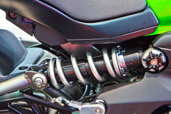 Motorcycle shock Stock Images