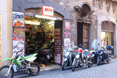 Motorcycle shop Royalty Free Stock Images