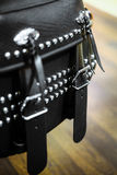 Motorcycle side bag Royalty Free Stock Images
