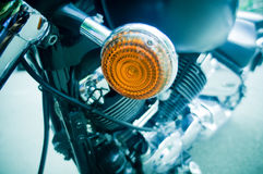 Motorcycle side light Stock Image
