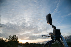 Motorcycle side mirror Stock Image