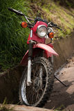 Motorcycle by the side of the road in Costa Rica Stock Photography