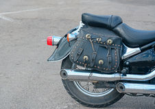 Motorcycle side view Royalty Free Stock Photography