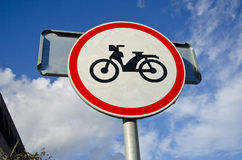 Motorcycle sign on sky background Stock Photo