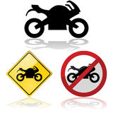 Motorcycle signs Royalty Free Stock Photos