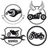 Motorcycle signs Royalty Free Stock Photo