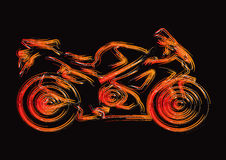 Motorcycle Silhouette Set 1. Drawing Royalty Free Stock Images