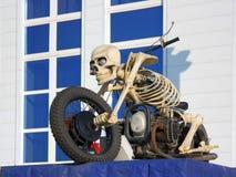 Motorcycle - skeleton Royalty Free Stock Image