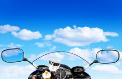 Motorcycle at the sky Royalty Free Stock Image