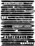 Motorcycle slogans typography tee graphic Royalty Free Stock Images
