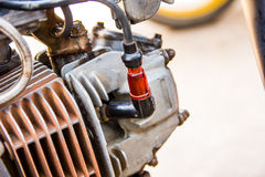 Motorcycle spark plug Royalty Free Stock Photos