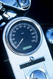 Motorcycle Speed Gauge. Speedometer on a motorcycle Royalty Free Stock Images