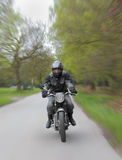 Motorcycle speeding Royalty Free Stock Photos