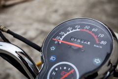 Motorcycle speedometer Stock Photos
