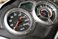 Motorcycle speedometer Stock Photography