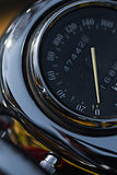 Motorcycle speedometer closeup view.  Macro shoot Stock Photo