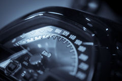 Motorcycle speedometer detail Royalty Free Stock Photo