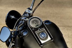 Motorcycle Speedometer and Handlbars Royalty Free Stock Photo