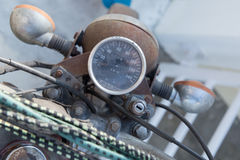 Motorcycle speedometer. Rusted ancient of motorcycle speedometer stock photo