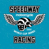 Motorcycle Speedway Racing Poster Royalty Free Stock Photos