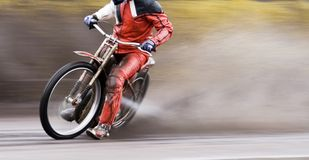 Motorcycle speedway rider Stock Photo