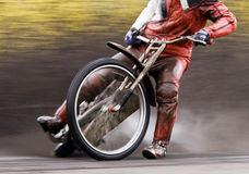 Motorcycle speedway rider Royalty Free Stock Image
