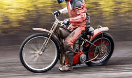 Motorcycle speedway rider Stock Images