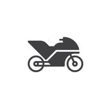 Motorcycle, Sport bike icon vector, filled flat sign Royalty Free Stock Photos
