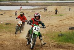 Motorcycle sport for children Royalty Free Stock Images