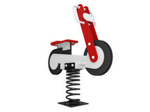 Motorcycle Spring Toy Royalty Free Stock Photos