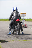 Motorcycle sprint racer Stock Image