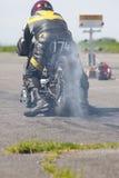 Motorcycle sprint racer Stock Photos