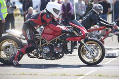 Motorcycle sprint racer Royalty Free Stock Image