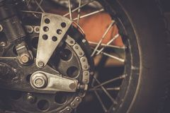 Motorcycle sprocket and chain Royalty Free Stock Photography