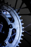 Motorcycle sprocket. Motorcycle rear sprocket chain drive Stock Photos