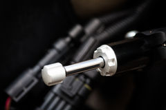 Motorcycle steering damper Stock Photography